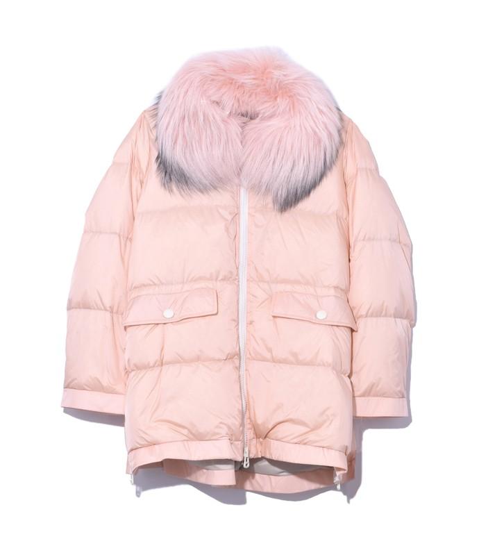 light pink ultra light nylon jacket