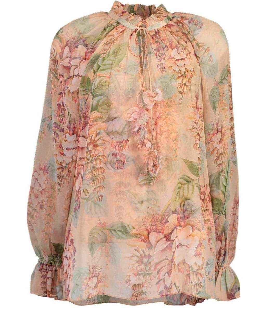 Zimmermann Silks Coral Tree Candescent Blouse