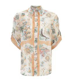 kirra button up shirt in queensland print