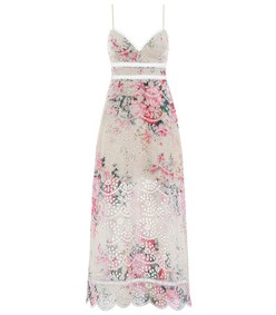 multicolor meadow floral laelia diamond bralette dress