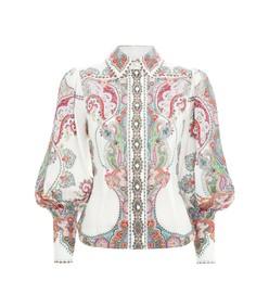 ninety-six filigree shirt in lennon paisley