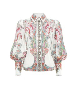 ninety-six filigree shirt in lennon paisley