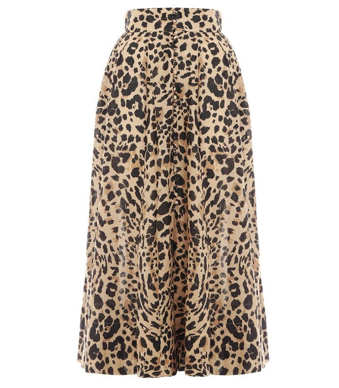 48a5ef7ddc1d Zimmermann. Veneto High Waisted Flare Skirt in Leopard